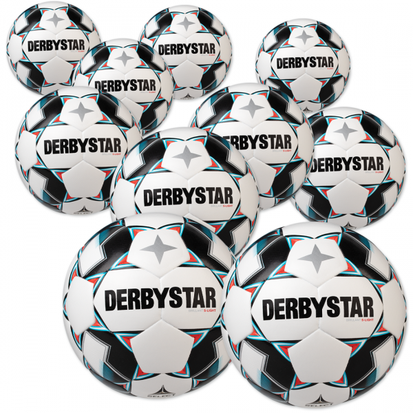 Derbystar Brillant s-light Ballpaket 10er greif zu