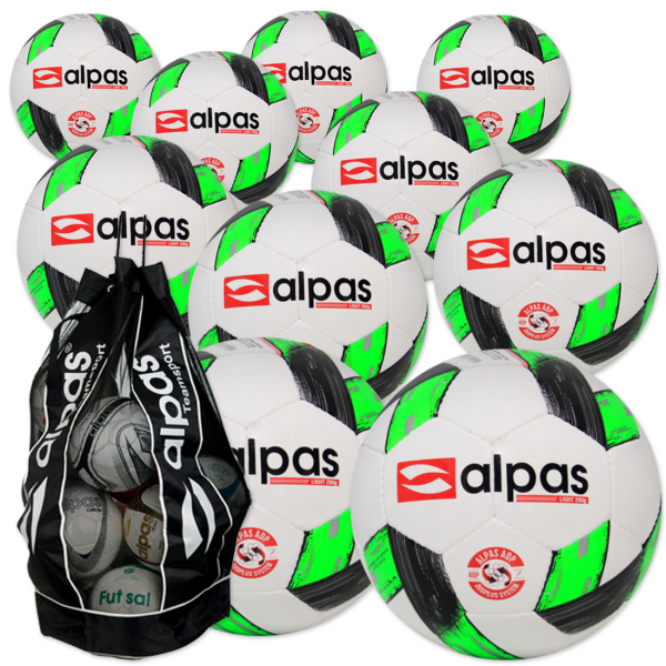 Ballpaket 10 Alpas light 290 Gr.5 + Ballsack