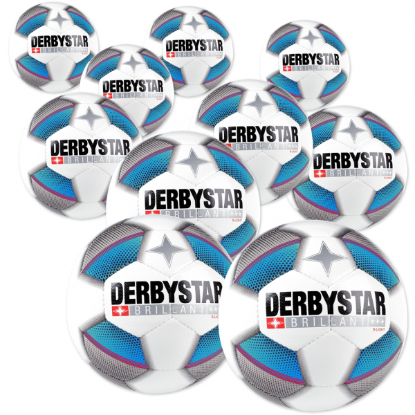 10 Stck Derbystar Brillant s light Dual Bonded im Ballpaket
