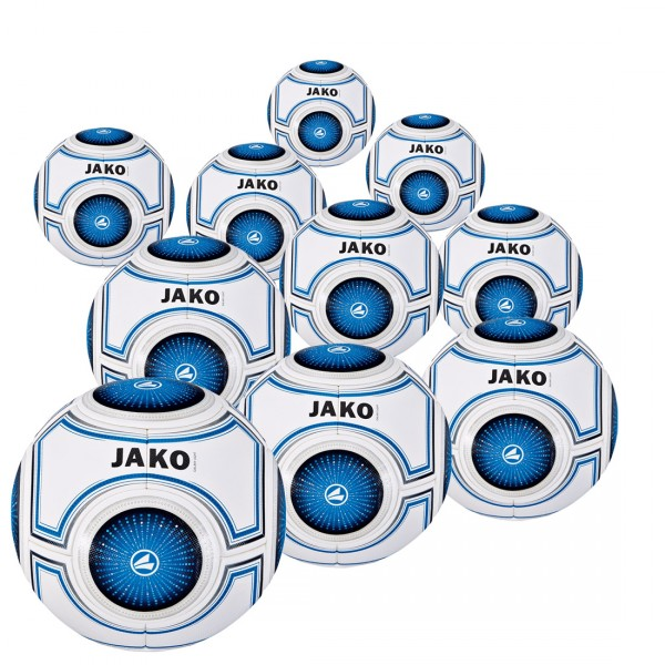 10 Stck. JAKO Trainingsball Galaxy Light 290 g im Ballpaket