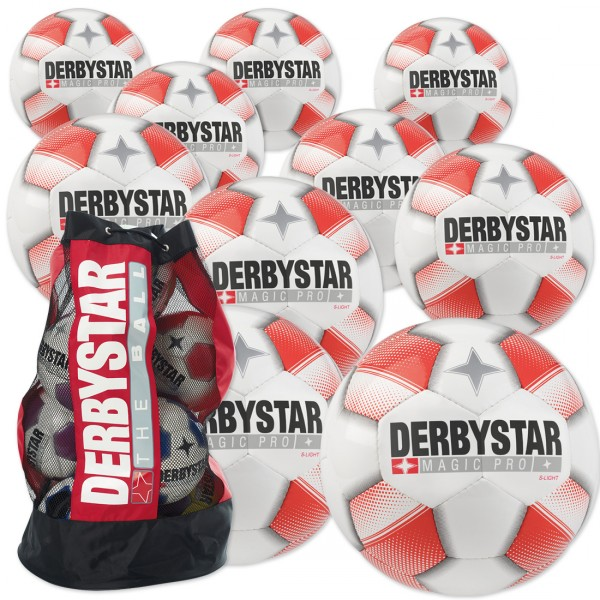 10 Stck. Derbystar Magic PRO S-LIGHT mit Ballsack