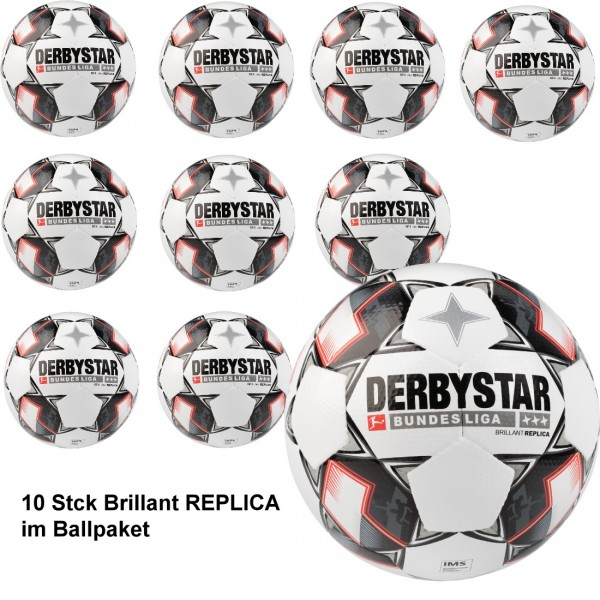 10 Stk DERBYSTAR Bundesliga Brillant Replica s-light Kinder