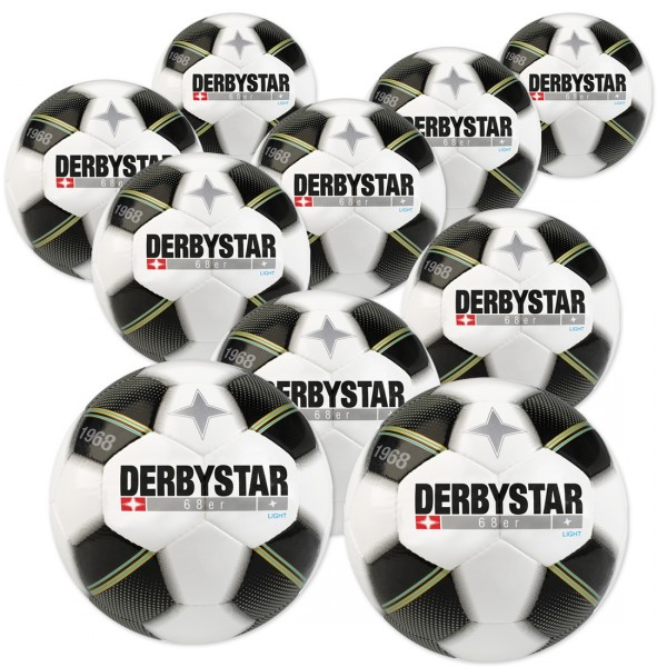 10 Stck. Derbystar 68er light Jugendfußbälle Ballpaket