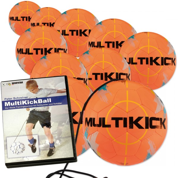 10 Stck. MultiKickBall + Multikick DVD im Ballpaket