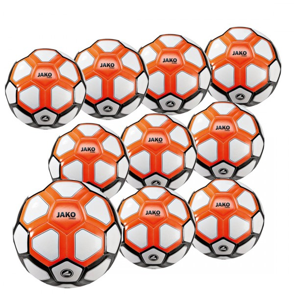 10 Stck. JAKO Trainingsball Striker MS im Ballpaket