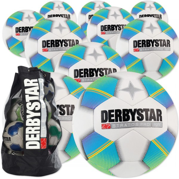 10 Stck. Derbystar Stratos Pro light Ballpaket + Ballsack