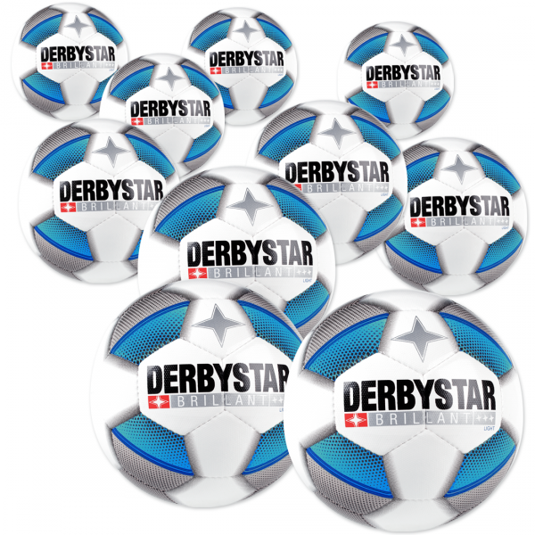 10 Stck Derbystar Brillant light Dual Bonded im Ballpaket